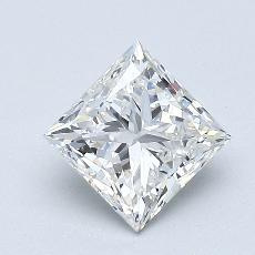 1,03-Carat Princess Diamond Very Good F VVS1