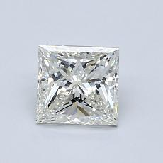 1.00-Carat Princess Diamond Very Good J SI1
