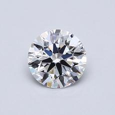 0.70 Carat 圆形 Diamond 理想 D VS2