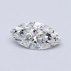 0.51-Carat Marquise Diamond Very Good F SI1