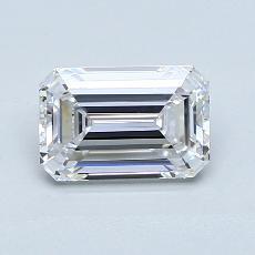 1.20-Carat Emerald Diamond Very Good D VVS2