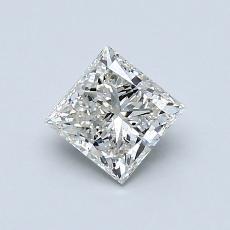 推薦鑽石 #1: 0.76  克拉公主方形鑽石