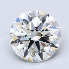 2.02 Carat 圆形 Diamond 理想 G VS2