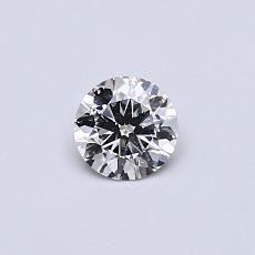 推荐宝石 4:0.30克拉圆形切割钻石