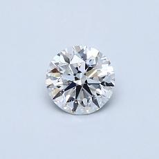 0,40-Carat Round Diamond Ideal E VS2