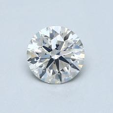 0.66-Carat Round Diamond Ideal I SI1