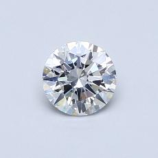 0.50-Carat Round Diamond Ideal E SI1