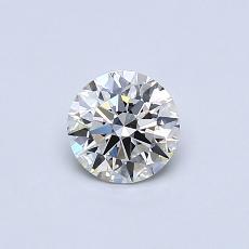 0,50-Carat Round Diamond Ideal I VVS2