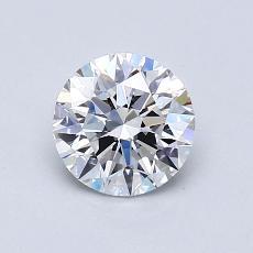 0.90-Carat Round Diamond Ideal D VS1