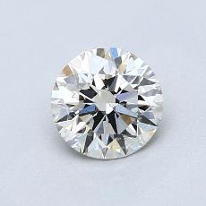 0,80-Carat Round Diamond Ideal I VS2