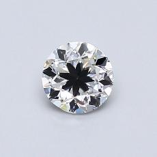0.50-Carat Round Diamond Good F VS2