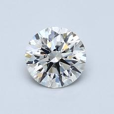 0,77-Carat Round Diamond Ideal H VVS1