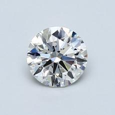 0.70-Carat Round Diamond Ideal G IF