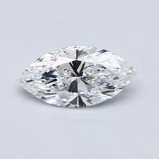 0,50-Carat Marquise Diamond Very Good D IF