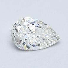 0.63 Carat 梨形 Diamond 非常好 F IF