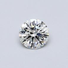 0.40-Carat Round Diamond Ideal I VVS1