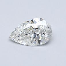 0,52-Carat Pear Diamond Very Good F VVS2
