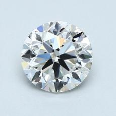 1.00-Carat Round Diamond Very Good D VVS2