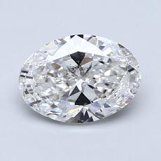 1,20-Carat Oval Diamond Very Good F SI2