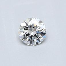 0.30 Carat 圆形 Diamond 理想 E IF