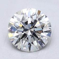 2,01 Carat Rond Diamond Idéale E VS2
