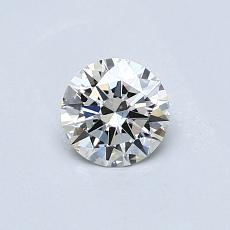 0,42-Carat Round Diamond Ideal J VS2