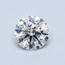 0.75 Carat 圓形 Diamond 理想 E VS2