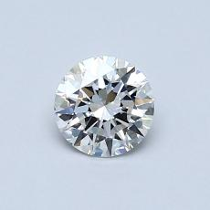 0.52-Carat Round Diamond Ideal F IF