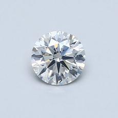 0.50-Carat Round Diamond Ideal G SI2