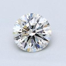 1,00-Carat Round Diamond Ideal H IF