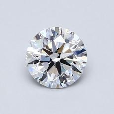 0.80-Carat Round Diamond Ideal D VVS1