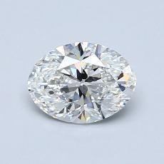 推荐宝石 1:0.80克拉椭圆形切割钻石