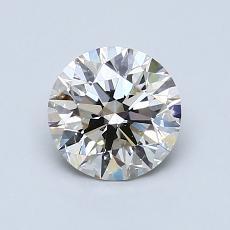 1,00-Carat Round Diamond Ideal K SI2