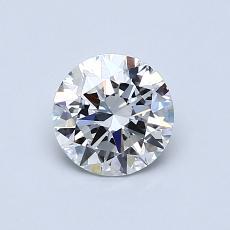 0.72-Carat Round Diamond Ideal F VS2