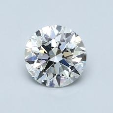 0,81 Carat Rond Diamond Idéale E VVS1