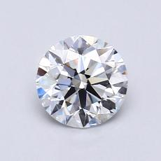 0,75-Carat Round Diamond Ideal D VS1
