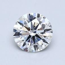 0,90-Carat Round Diamond Ideal D VS1