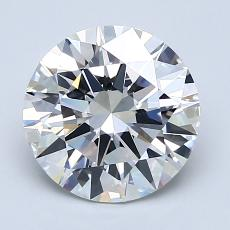 2,01 Carat Redondo Diamond Ideal D VVS1