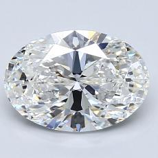 2.01-Carat Oval Diamond Very Good F VS1