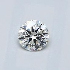 0.40-Carat Round Diamond Ideal G VVS2