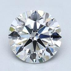 2.09-Carat Round Diamond Ideal G VVS1