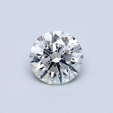 0.52 Carat 圆形 Diamond 理想 H VS1