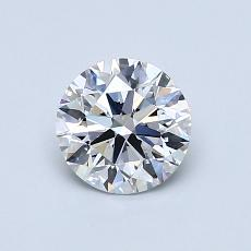 0,81-Carat Round Diamond Ideal D VS1