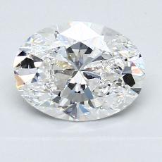 1.50-Carat Oval Diamond Very Good E VS2
