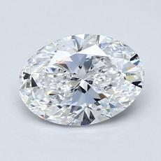 1.03 Carat 椭圆形 Diamond 非常好 D IF