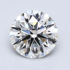 2,09 Carat Rond Diamond Idéale G VVS2