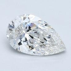 1,01 Carat Poire Diamond Très bonne F SI1