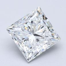 Recommended Stone #3: 2,51-Carat Princess Cut Diamond