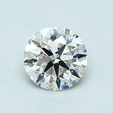0,80 Carat Rond Diamond Idéale I IF
