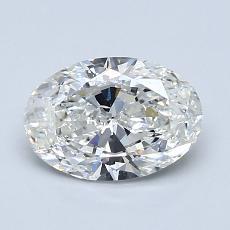1.20 Carat 椭圆形 Diamond 非常好 F SI1
